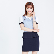 Summer 2017 New Professional Women's Suit Skirt White-collar Hotel Front Desk Beautician Workwear Suit Two Suits