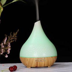 LEPOID 400ml dyfuzor olejów zapachowych drewna elektryczny nawilżacz ultradźwiękowy nawilżacz powietrza fajne mgły lub olejek do domu biurowego na