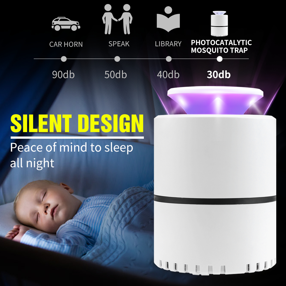 LED Low-Voltage Ultraviolet Mosquito Killer Lamp Safe, Energy-Saving And Efficient Environment-Type Photocatalytic Light Source