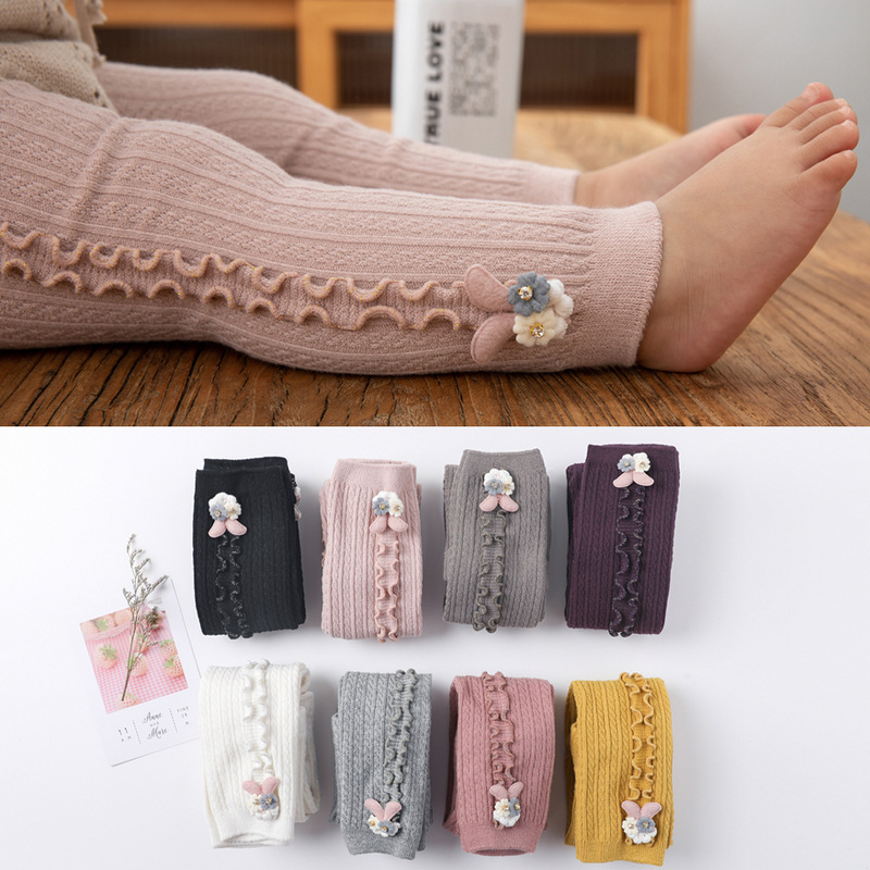 >Baby Autumn Winter Tights Hot Baby Toddler Kid Girl Ribbed Stockings Cotton Warm Pantyhose <font><b>Solid</b></font> Candy Color Tight <font><b>0</b></font>-<font><b>5Y</b></font>