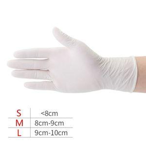 Image 2 - 100 sztuk wodoodporne jednorazowe mycie czyszczenie rękawice nitrylowe rękawice ochronne X6HB