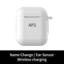 Ap2 tws 1:1 mini bluetooth 5.0 estéreo fones de ouvido sem fio suporte do esporte do transporte da gota auriculares bluetooth elair
