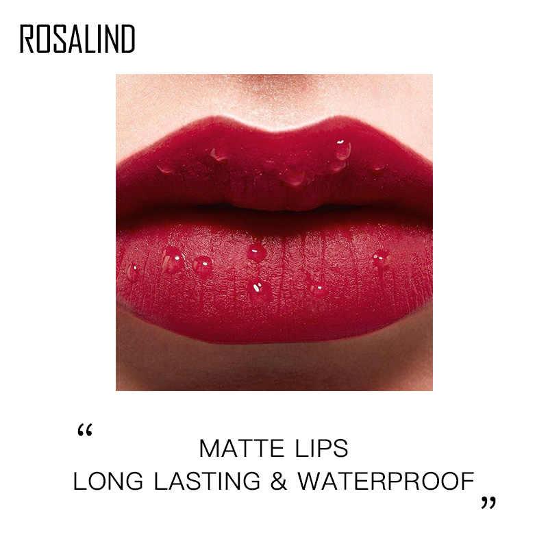 ROSALIND Lip liner Scintillio Cosmetici Impermeabile Rossetto Nudo di Trucco Lunga Durata Per Le Donne Professionale Lip Stick Set