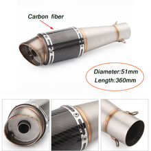 51mm Headed Silencer System with DB Killer Escape 38-51mm Motorcycle Exhaust Muffler Pipe