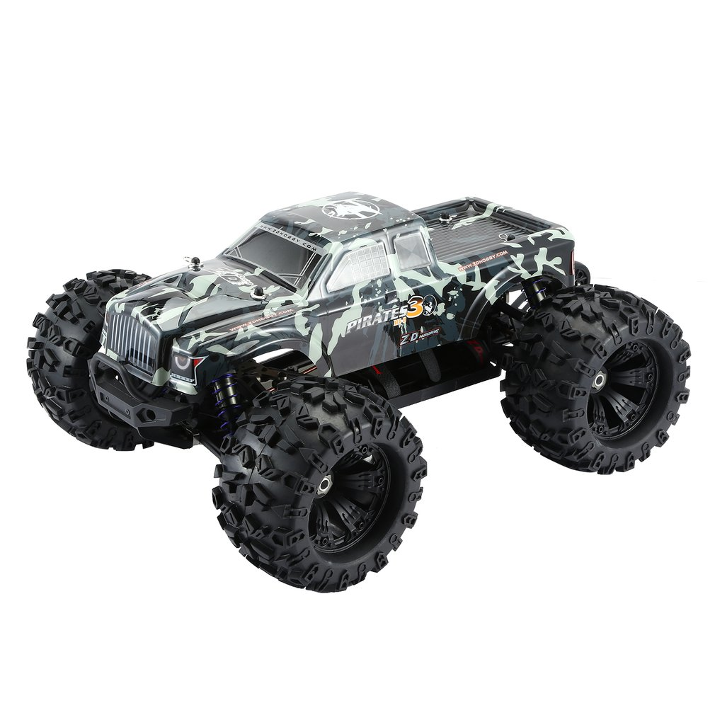ZD RACING MT8 Pirates3 1/8 2,4G 90 km/h eléctrico sin escobillas RC coche de carreras OFF Road modelo Pie Grande monster camión RTR/Marco de coche - 3