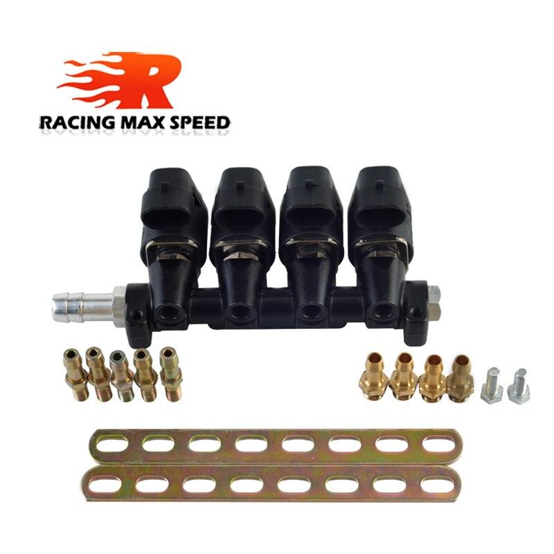 GLP/CNG sistema de combustible secuencial inyección Auto Kit de conversión de gas inyector Rail 2 o 3 ohmios inyector de coche