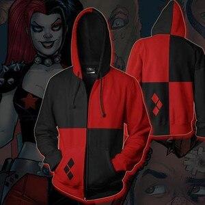 Image 5 - Filme esquadrão suicida harley quinn anime hoodie cosplay traje moletom jaqueta casacos das mulheres dos homens novo