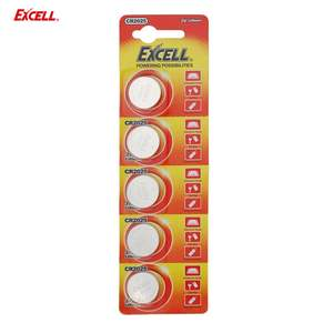 EXCELL 5pcs 3V CR2025 Lithium Coin Cell Button Battery for Electronic Scale Car key Remote Control Caculator Dictionary