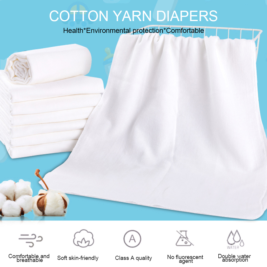 5pcs/lot Newborn Baby Nappy Baby Gauze Diapers Changing Washable Soft Baby Towels Baby Cloth Square 100% Cotton