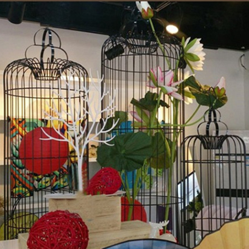 1 pçs retro decorativo ferro gaiola de