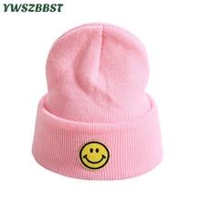 New Autumn Winter Smile Knitted Baby Hat Girls Boys Beanies Crochet Children Warm Cap