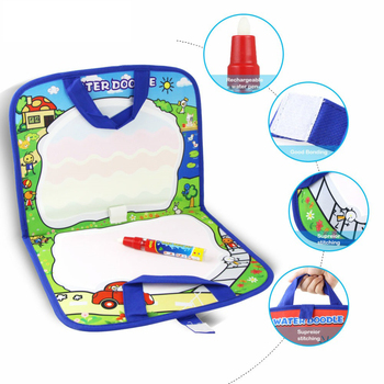 New Arrival Magic Water Drawing Mat With 1 Magic Pen Handbag Board Doodle Mat Drawing Toys Educational Toys for Kids