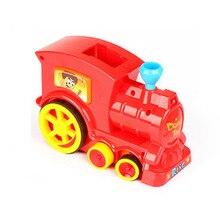 Звуковой светильник ABS укладка электронный образовательный подарок домино набор красочные дети девочка мальчик игрушка поезд модель ралли кирпичные блоки