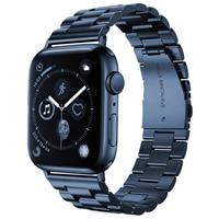 Handgelenk Armband für Apple Uhr SE Band Serie 6 5 4 40mm 44mm Edelstahl-Business Gurt für iWatch 3 38mm 42mm Meer Blau