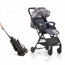 Baby Pram Umbrella Light Folding High Landscape Child Trolley Reversible Baby Four-wheeled Cart Baby  3 In 1 Baby Stroller