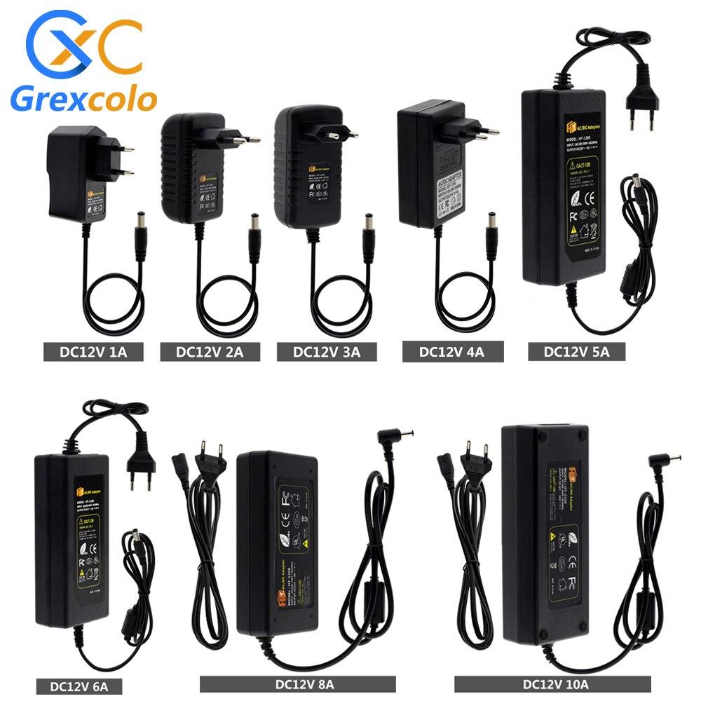 12V Adapter AC100-240V Lighting Transformers Output DC12V 1A 2A 3A 4A 5A 6A 8A 10A EU / US Plug Power Supply for LED Strip