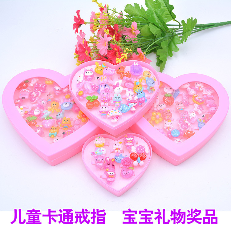 Korean-style Yiwu Accessories Children Resin Ring Toy GIRL'S Hand Jewelry Kindergarten Small Gifts