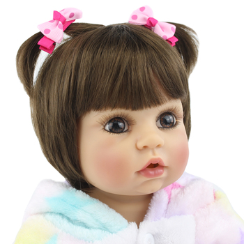 55cm Full Silicone Body Reborn Baby Doll Toy 22 inch Newborn Princess Babies Toddler Bebe
