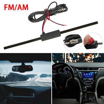Hot Sale Universal Car Antenna Booster Car Electronic FM/AM Radio Antenna Windshield Mount 12V Black Car Electronic Dropshipping image