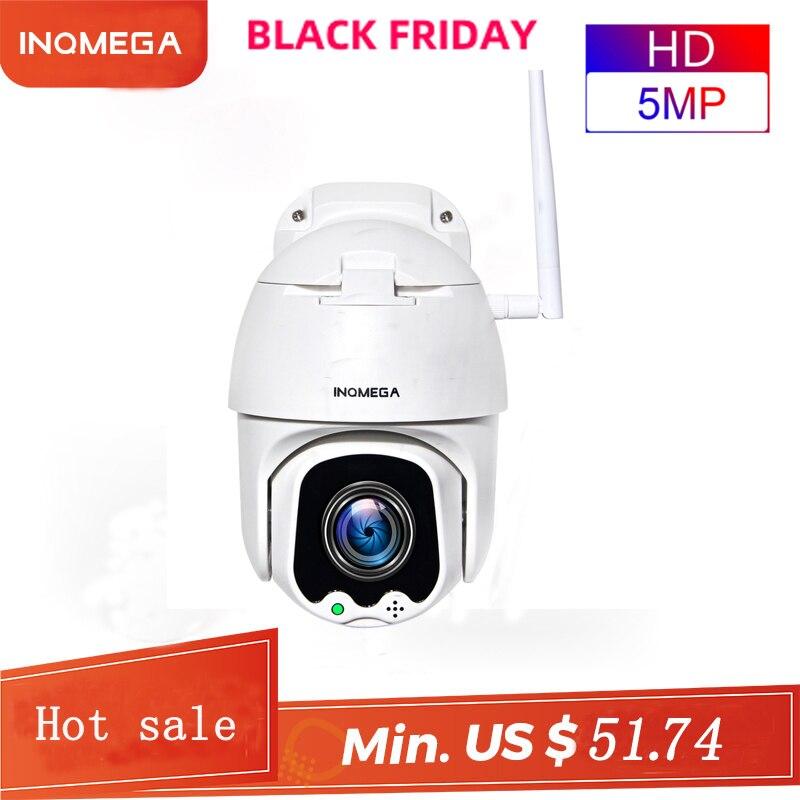 INQMEGA 5MP Super HD PTZ IP Camera Night Vision Outdoor Waterproof Audible Alarm Two Way Audio Home Security Cameras