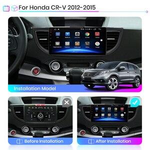 Image 2 - Junsun V1 4G + 64G CarPlay أندرويد 9.0 DSP لهوندا crv CR V 2011 2013 2015 راديو السيارة الوسائط المتعددة مشغل فيديو لتحديد المواقع RDS 2 din dvd