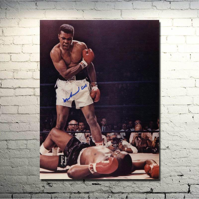 Настенный художественный постер на холсте с изображением Мухаммеда Али-Хая, боксера, чемпиона, спортивные картины для спальни, домашний дек...