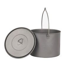 TOAKS Ultralight Titanium Pot Outdoor Camping Haing 1300ml POT-1300-BH