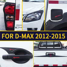 FREE SHIPING  ISUZU D-MAX front tail lamp coer Handle cover bowl rear trunk lid accessory accessories complete set