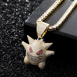 Image 3 - JINAO collier de bijoux Hip Hop, pendentif nouveauté, en cuivre, Zircon cubique, chaîne glacée, cadeau pour hommes