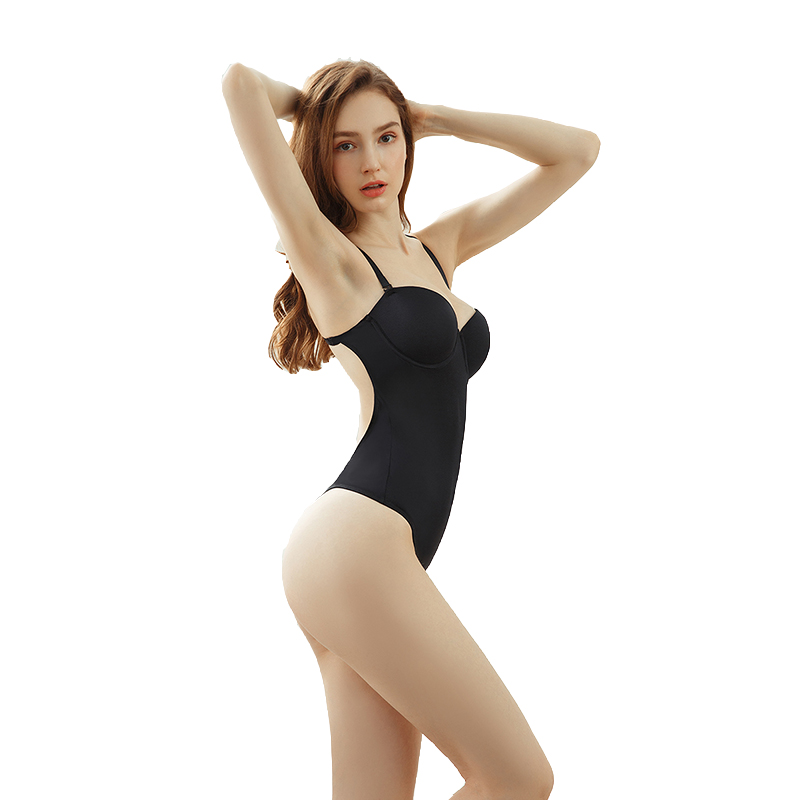 Woman Sexy Deep V Bodysuit Backless Plunge Thong Push Up Padded Bra Body Shaper Suit Convertible Seamless Low Back