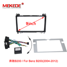 MEKEDE Car Stereo Panel Dash Mount Kit Frame For Mercedes Benz B200/Smart/ W203/ W209/ W211Radio Fascia Adaptor With Power Cable