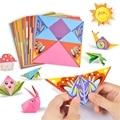 54 шт./лот детская Бумажная книга оригами для животных 3D пазл своими руками складная игрушка для детей ручной работы Детский Сад Искусство ре...