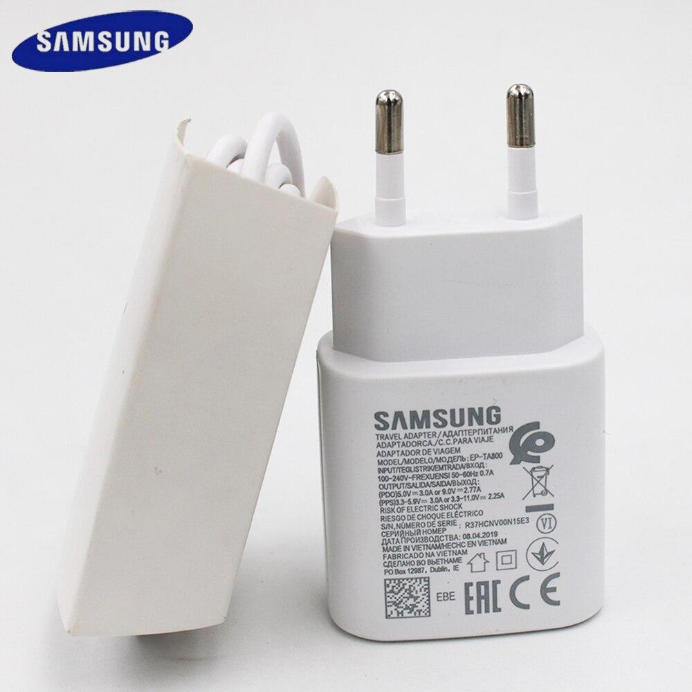 Original samsung s20 carregador ultra rápido 25 w pd pss adaptador de alimentação usb tipo-c cabo para galaxy note 10 9 8 s10 s9 mais a8s a9s a90