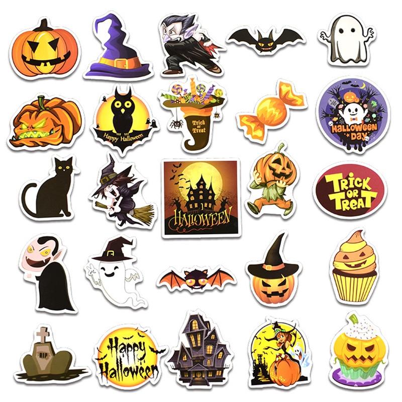 25PCS Happy Halloween Christmas Scrapbook Stationery Stickers Planner Calendar Agenda School Art Craft Supplies in Stickers from Home Garden