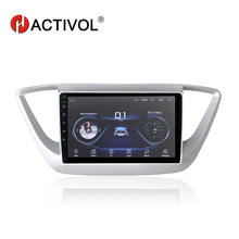 HACTIVOL 9 1024*600 Quadcore android 8.1 car radio for Hyundai Verna 2016 car DVD player GPS Navi wifi bluetooth,steering wheel hactivol 2 din car radio face plate frame for hyundai verna 2016 black car dvd player gps navi panel dash mount kit car products
