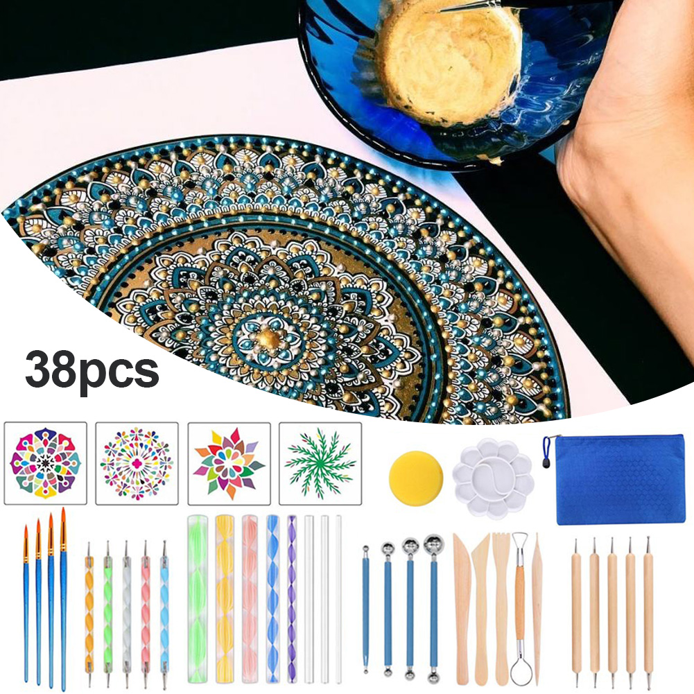 Painting Rocks Dot Kit Mandala Dotting Tools Set For Painting Rocks Rock Stone Painting Pen Polka Dot Tool Template Cosmetic