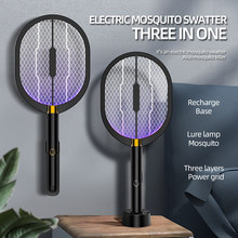 USB Powered UV Light Electric Mosquito Killer Lamp 3000V DC for Mosquitos Flies Moths Flying Insects Control Fly Swatter Trap