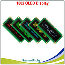 Real Display OLED, Tela LCD LCM Display Module 1602 162 Caracteres Paralelo, Build-in WS0010, apoio Serial SPI