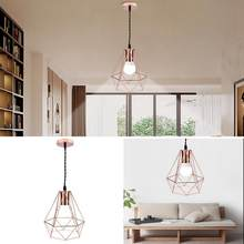Nordic Style home Ceiling Lamp Modern Industrial Vintage Cage Pendant Light home decor Iron Art Diamond Pyramid Wrought lamp(China)
