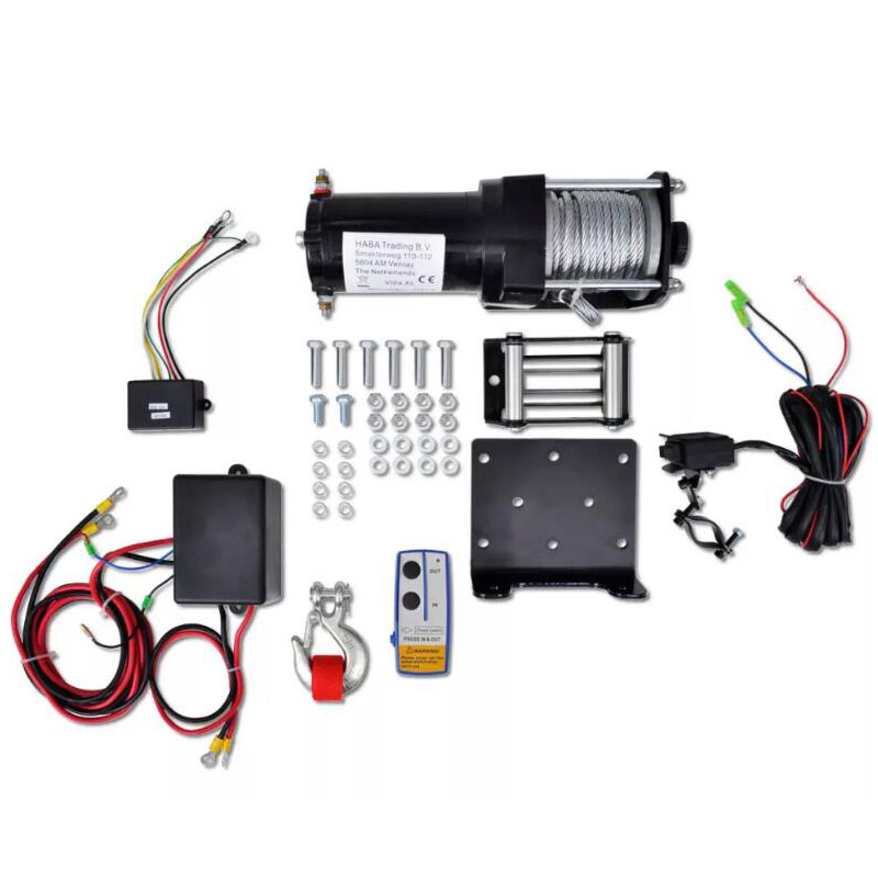 VidaXL Electric Winch 12V 1360 Kg With Wireless Remote Control For The Recovery Of Vehicles Car Winch