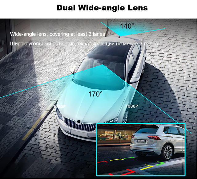 1080P WIFI Dash Cam GPS Track Car DVR 30FPS Ultra HD Super Night Vision Camera Video Recorder Auto Phone Connection 24H Parking 5