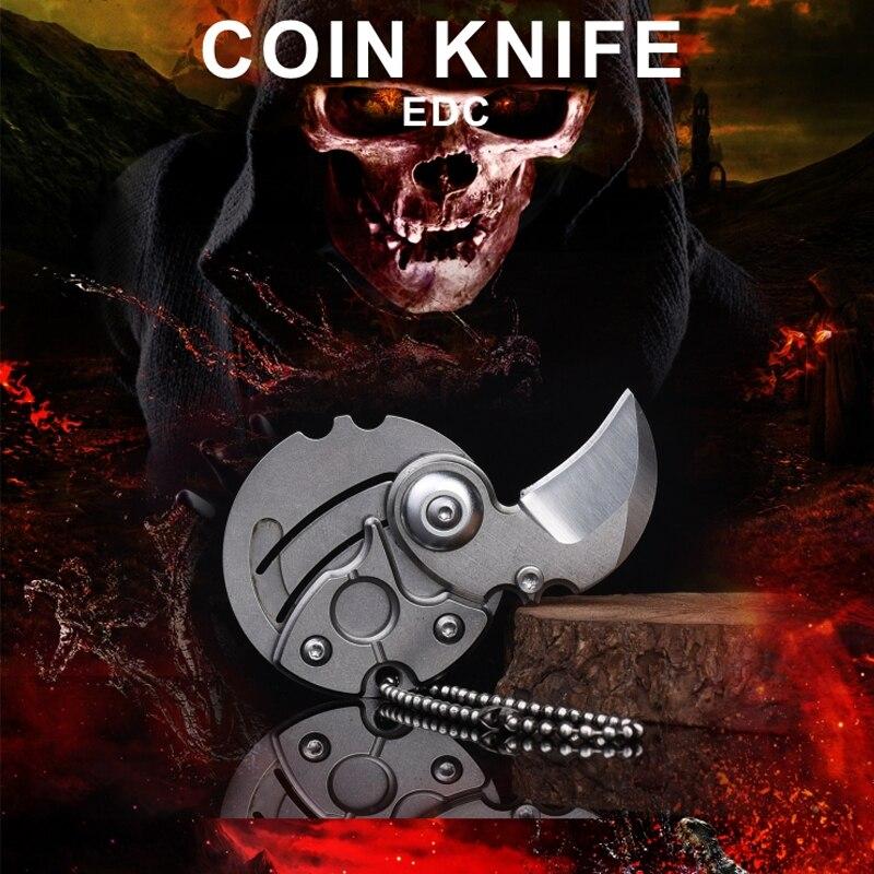 1 шт. EDC Карманный Брелок для монет, нож для походов, охоты, складной нож для самозащиты, мини-брелок для ключей для выживания