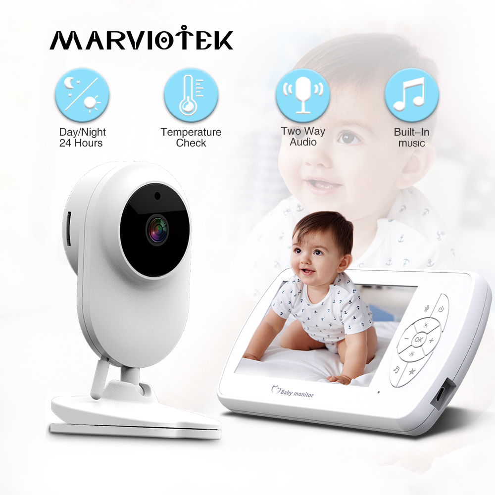 4.3 Inch Baby Monitor With Camera Two Way Audio Nanny Video Baby Security Camera Babyphone Night Vision Temperature Detection