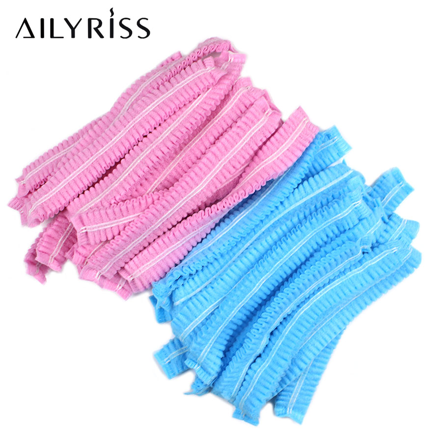 Elastic Cap Hair 20/40 PCS Non-woven Disposable Transparent Grafting Eyelash Supplies DIY Hair Salon Beauty Accessories