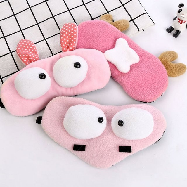 Korean Version Of Cute Cartoon Plush Big Eyes Sleep Eye Mask Rest Shading Eye Ice Pad Eye Mask Ice Mask 2