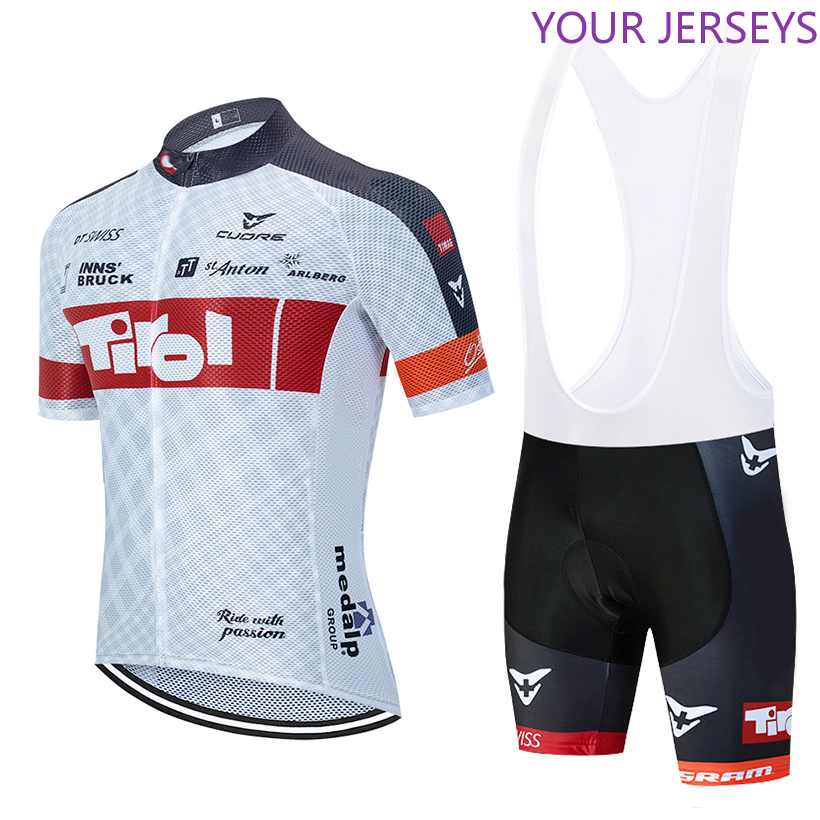 New 2020 TEAM TIROL Cycling  Jersey 20D Bike Shorts Set Mtb Ropa Mens Summer Quick Dry Pro BICYCLING Shirts Maillot Culotte Wear