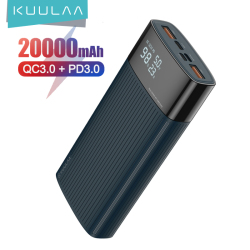 KUULAA 20000mAh PowerBank QC PD 3.0 PoverBank Fast Charging Power Bank 20000 mAh USB External Battery Charger For Xiaomi Mi
