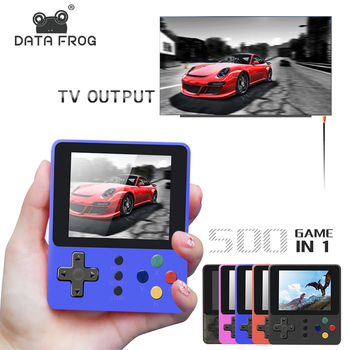 цена на DATA FROG Mini Video Game Console Built-in 500 Arcade Games Handheld Player Classic Retro Game Console For PSP Support TV Output