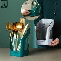 Soporte para cuchara de cocina multifuncional, escurridor de cubiertos, palillos, estante de almacenamiento, organizador de cocina