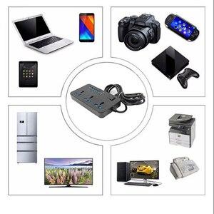 Image 5 - 16A Smart Power Socket Strip 6 porta USB 3 prese universali da 3000W AC presa a muro grande prolunga Patch Board per telefono casa